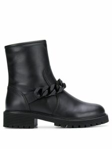 Giuseppe Zanotti chunky chain detail boots - Black