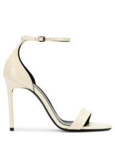 Saint Laurent Jane 105mm sandals - NEUTRALS