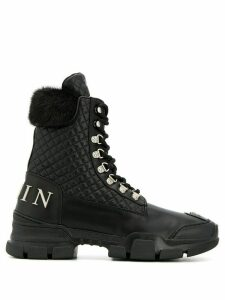Philipp Plein quilted ankle boots - Black