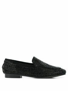 Lola Cruz studded slip-on loafers - Black