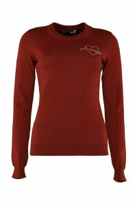 Love Moschino Virgin Wool Crew-neck Pullover