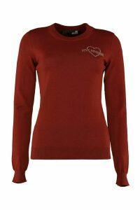 Love Moschino Virgin Wool Crew-neck Pullover