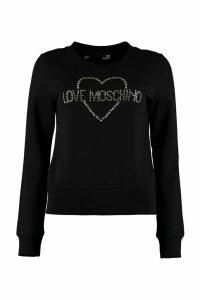 Love Moschino Logo Detail Cotton Sweatshirt