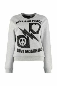 Love Moschino Logo Detail Cotton Sweatshirt