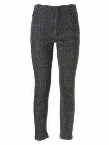 Chloé Checked Skinny Trousers
