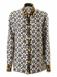 Versace Strap Logo Plaque Motif Shirt