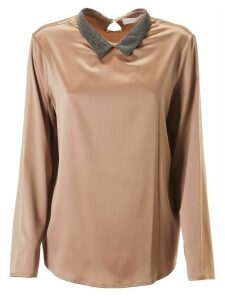 Fabiana Filippi Classic Collar Long-sleeve Top