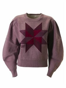 Isabel Marant Logo Detail Cropped Sweatshirt