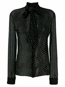 Saint Laurent Star Motif Pussybow Blouse