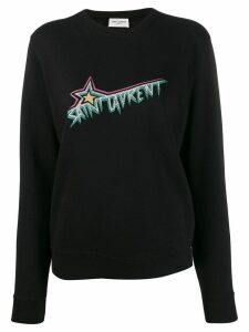Saint Laurent Logo Print Sweatshirt