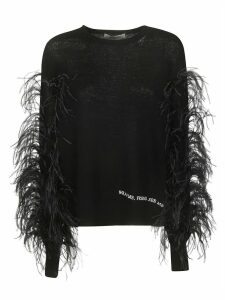 Valentino Fur Applique Sweater