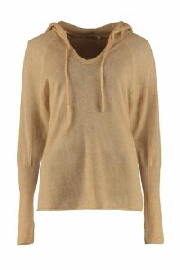 Mes Demoiselles Hooded Kid Mohair Blend Sweater