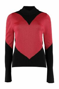 GCDS Intarsia Turtleneck Sweater