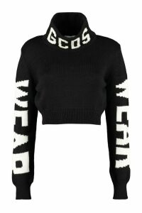 GCDS Cropped Turtleneck Sweater