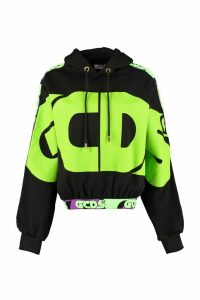 GCDS Printed Cotton Hoodie