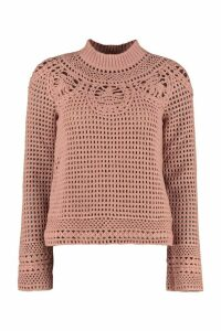 Alberta Ferretti Tricot-knit Wool Sweater