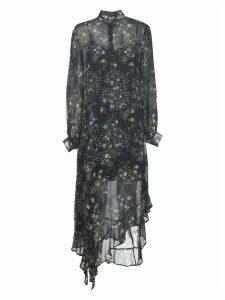 Flower Print Sheer Dress
