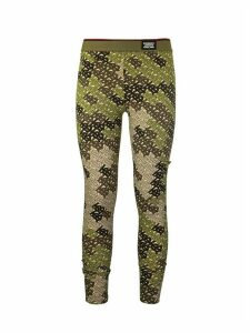 Burberry Turama Monogram Print Stretch Jersey Leggings