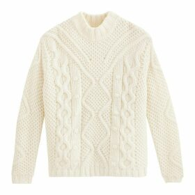 High Neck Jumper in Chunky Cable Knit