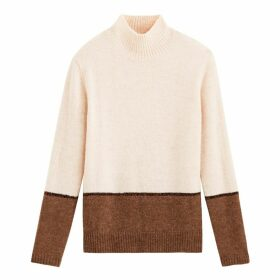 Two-Tone High Neck Jumper
