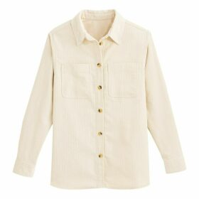 Corduroy Shirt with Long Sleeves and Pockets