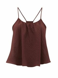Loup Charmant - Scoop-neck Cotton Cami Top - Womens - Dark Purple