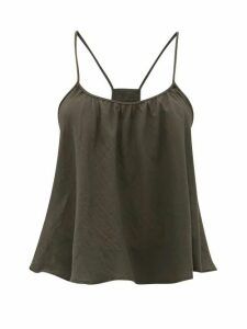 Loup Charmant - Scoop Neck Cotton Cami Top - Womens - Grey