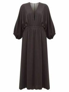 Eres - Ava V-neck Crepe-jersey Midi Dress - Womens - Black