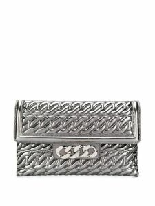 Casadei Catenassé clutch bag - SILVER