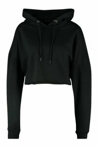 Womens The Basic Cropped Hoody - black - 6, Black
