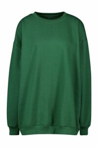 Womens The Basic Boyfriend Sweatshirt - green - 10, Green