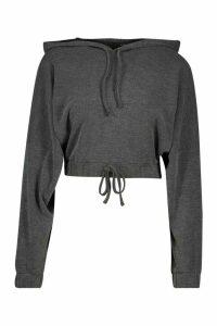 Womens Soft Rib Batwing Hoodie - grey - 16, Grey