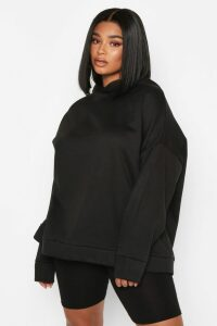 Womens Plus Oversized Supersoft Hoody - black - 20, Black
