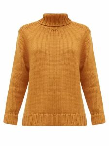 Joostricot - Roll Neck Wool Blend Sweater - Womens - Brown