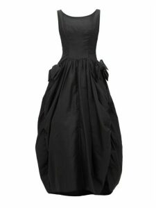William Vintage - Christian Dior London Side-bow Gathered Gown - Womens - Black