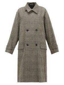Chimala - Double-breasted Wool-blend Overcoat - Womens - Dark Grey