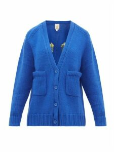 Joostricot - Smiley Wool-blend Cardigan - Womens - Blue