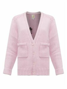 Joostricot - Smiley-embroidered Wool-blend Cardigan - Womens - Light Pink