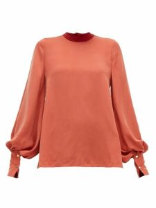 Roksanda - Cala Balloon-sleeve Twill Blouse - Womens - Red