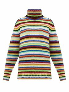 Joostricot - Striped Roll-neck Wool-blend Sweater - Womens - Multi