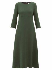 Goat - Happy Wool-crepe Midi Dress - Womens - Dark Green