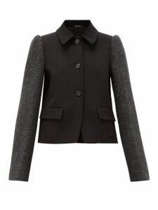 Maison Margiela - Single-breasted Panelled Technical-twill Jacket - Womens - Black Multi