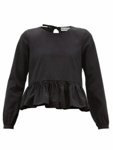Molly Goddard - Wilfred Peplum-hem Cotton Top - Womens - Black