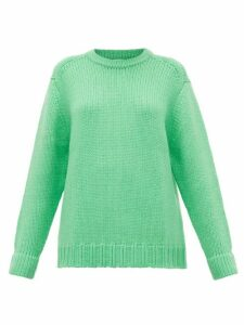 Joostricot - Crew-neck Wool-blend Sweater - Womens - Green