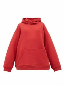 Raey - Oversized Cotton-jersey Hooded Sweatshirt - Womens - Red