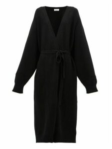 Raey - Long Shawl Belted Cashmere Cardigan - Womens - Black