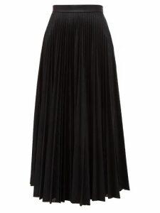 Emilia Wickstead - Sunshine Pleated Metallic-jersey Midi Skirt - Womens - Black