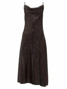 Jonathan Simkhai - Sequin-embellished Cowl-neck Midi Dress - Womens - Black