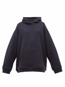 Raey - Oversized Cotton-jersey Hooded Sweatshirt - Womens - Navy