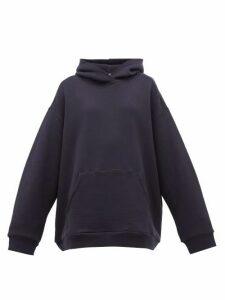 Raey - Oversized Cotton Jersey Hooded Sweatshirt - Womens - Navy